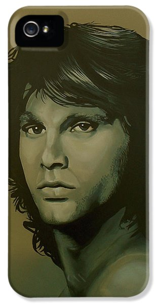 Raven iPhone 5 Case - Jim Morrison Painting by Paul Meijering