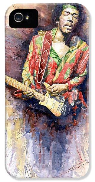 Jazz iPhone 5 Case - Jimi Hendrix 09 by Yuriy Shevchuk