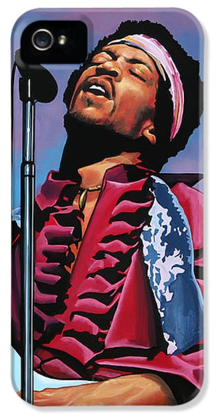 Knight iPhone 5 Case - Jimi Hendrix 2 by Paul Meijering