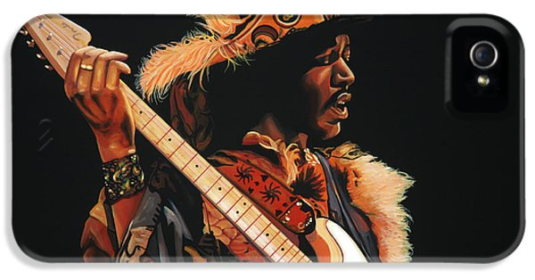 Knight iPhone 5 Case - Jimi Hendrix 3 by Paul Meijering