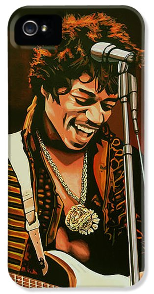 Knight iPhone 5 Case - Jimi Hendrix Painting by Paul Meijering