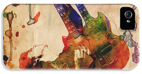 Jimmy Page - Led Zeppelin IPhone 5 Case by Ryan Rock Artist
