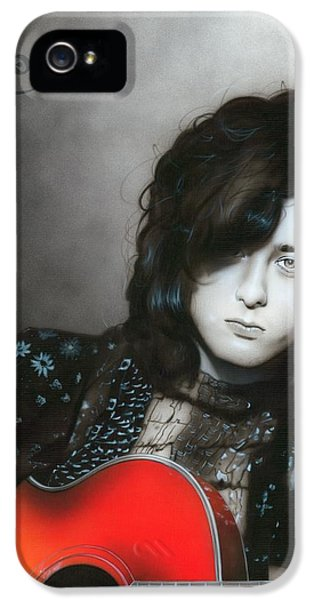 ' Jimmy Page ' IPhone 5 Case by Christian Chapman Art