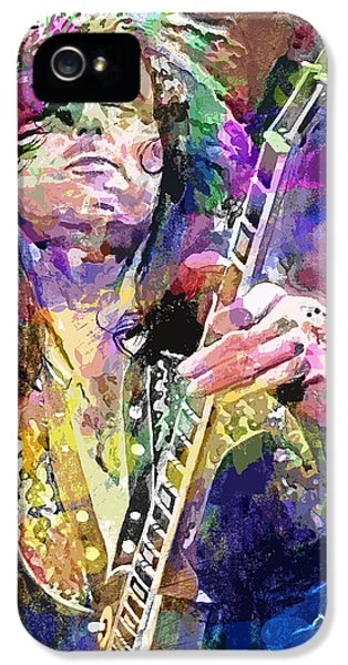 Jimmy Page Electric IPhone 5 / 5s Case by David Lloyd Glover
