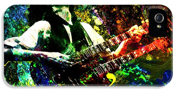 Jimmy Page - Led Zeppelin - Original Painting Print IPhone 5 Case by Ryan Rock Artist