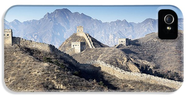 Jinshanling Panorama - Great Wall Of China IPhone 5 Case by Brendan Reals