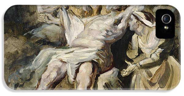 Job Tormented By The Demons IPhone 5 Case by Ferdinand Victor Eugene Delacroix