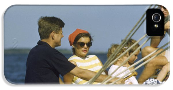 John F. Kennedy Boating IPhone 5 Case by The Harrington Collection