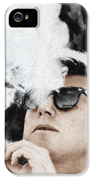 John F Kennedy Cigar And Sunglasses IPhone 5 Case