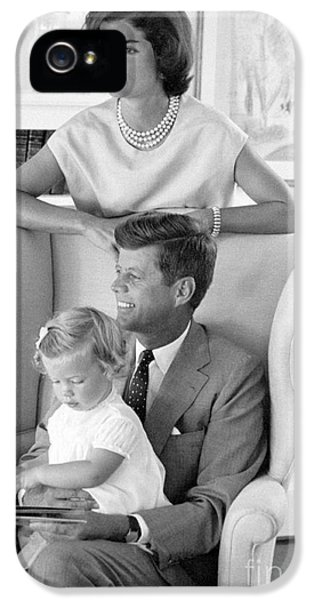 John F. Kennedy With Jacqueline And Caroline 1959 IPhone 5 Case by The Harrington Collection