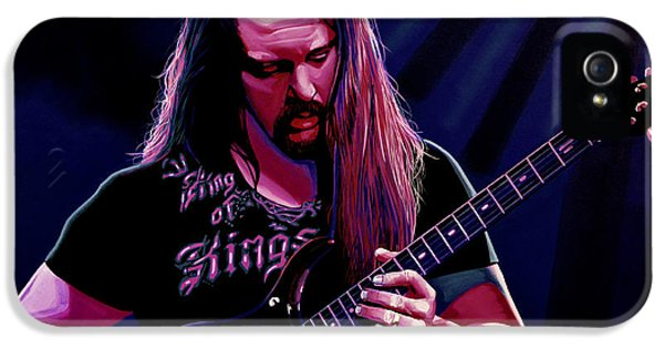 Led Zeppelin iPhone 5 Case - John Petrucci Painting by Paul Meijering