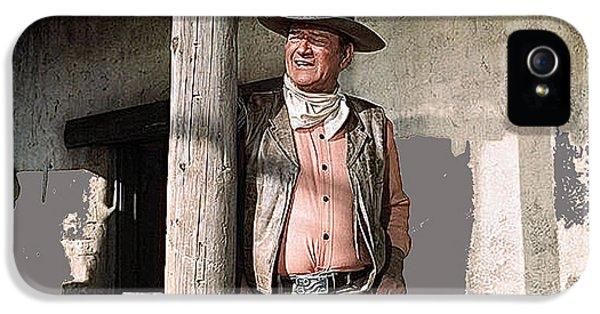 John Wayne Publicity Photo Rio Lobo 1970 Old Tucson Arizona  1970-2012 IPhone 5 / 5s Case by David Lee Guss