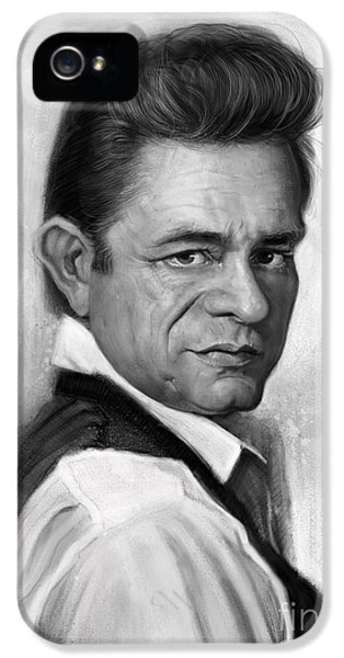 Johnny Cash IPhone 5 Case by Andre Koekemoer