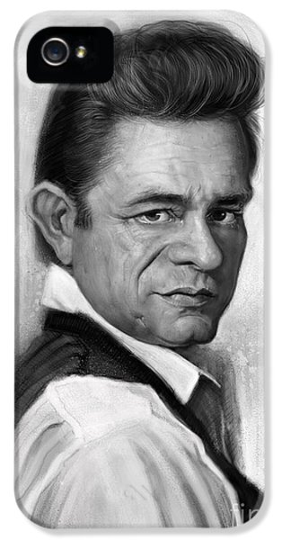 Johnny Cash IPhone 5 / 5s Case by Andre Koekemoer