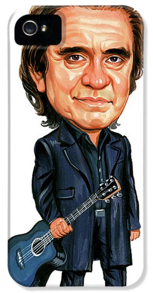 Johnny Cash IPhone 5 Case by Art