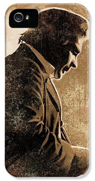 Johnny Cash iPhone 5 Case - Johnny Cash Artwork by Sheraz A