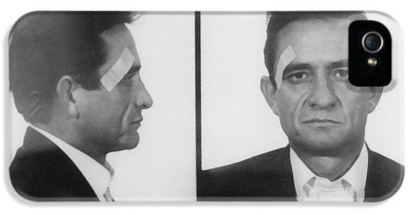Johnny Cash Folsom Prison IPhone 5 Case by David Millenheft
