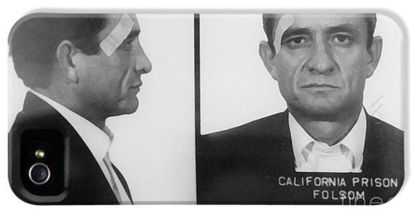 Johnny Cash iPhone 5 Case - Johnny Cash Folsom Prison Large Canvas Art, Canvas Print, Large Art, Large Wall Decor, Home Decor by David Millenheft