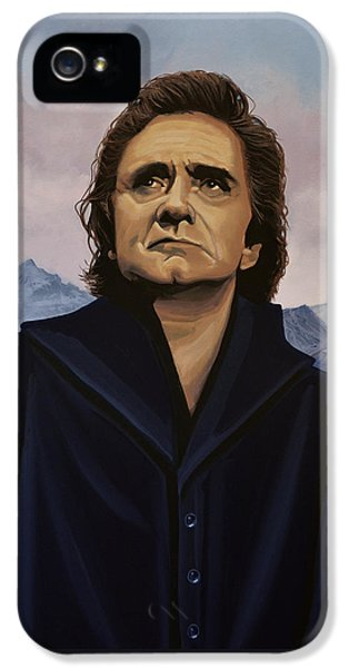 Johnny Cash iPhone 5 Case - Johnny Cash Painting by Paul Meijering