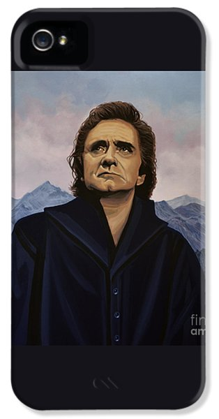 Johnny Cash Painting IPhone 5 Case by Paul Meijering
