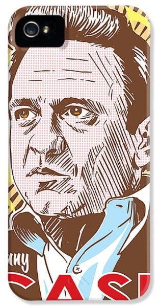 Johnny Cash Pop Art IPhone 5 Case by Jim Zahniser