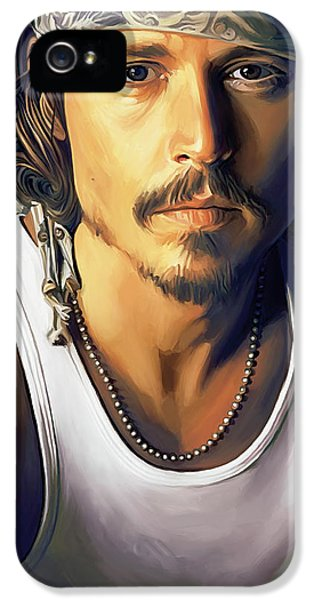 Johnny Depp Artwork IPhone 5 Case by Sheraz A