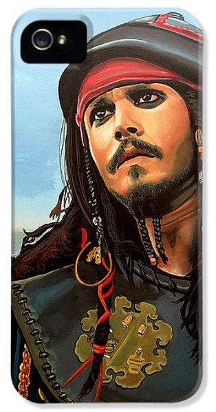 Johnny Depp As Jack Sparrow IPhone 5 / 5s Case by Paul Meijering
