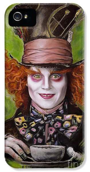 Johnny Depp As Mad Hatter IPhone 5 / 5s Case by Melanie D