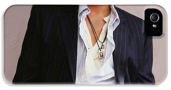 Johnny Depp iPhone 5 Case - Johnny Depp by Dominique Amendola