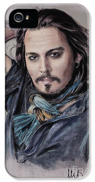 Johnny Depp iPhone 5 Case - Johnny Depp by Melanie D