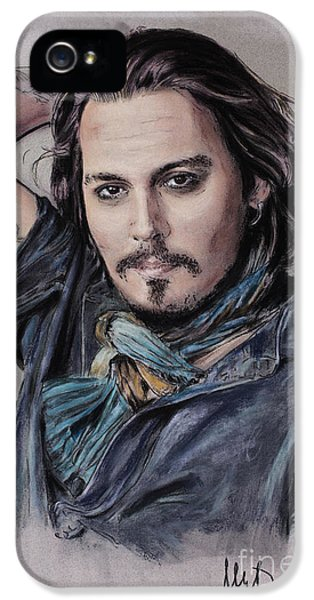 Johnny Depp IPhone 5 Case by Melanie D