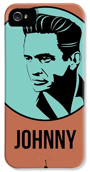 Johnny Cash iPhone 5 Case - Johnny Poster 1 by Naxart Studio