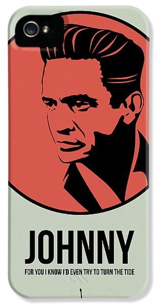 Johnny Cash iPhone 5 Case - Johnny Poster 2 by Naxart Studio