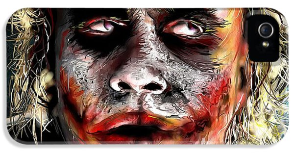 Joker Painting IPhone 5 / 5s Case by Daniel Janda