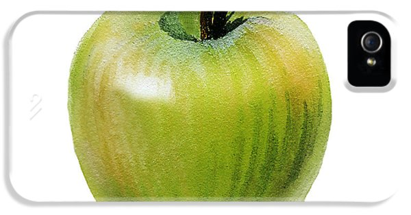 IPhone 5 Case featuring the painting Juicy Green Apple by Irina Sztukowski