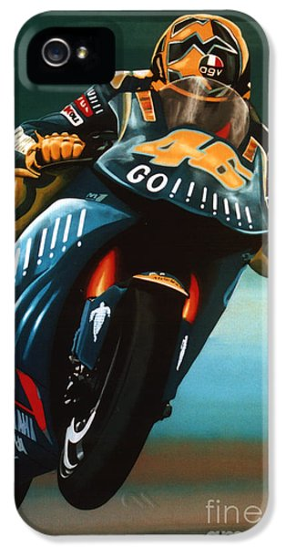 Jumping Valentino Rossi  IPhone 5 Case by Paul Meijering