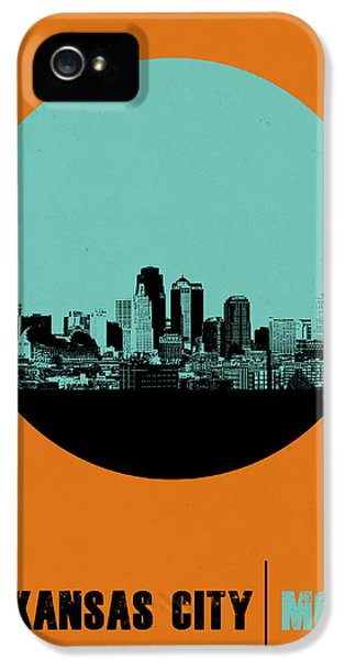 Kansas City Circle Poster 1 IPhone 5 Case by Naxart Studio