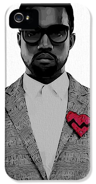 Kanye West  IPhone 5 Case by Dan Sproul