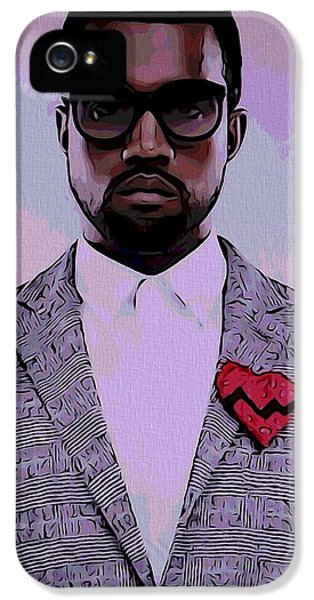 Kanye West Poster IPhone 5 Case by Dan Sproul