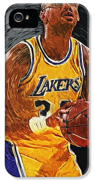 Magic Johnson iPhone 5 Case - Kareem Abdul-jabbar by Taylan Apukovska