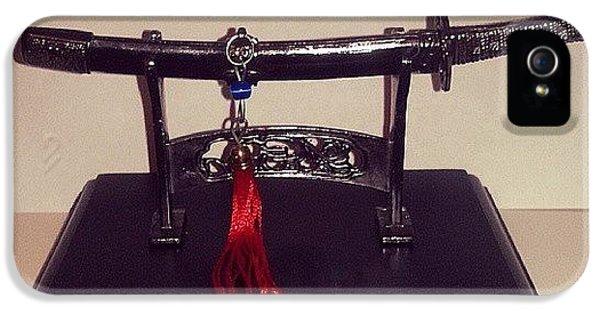 #katana #decorative #miniature #weapon IPhone 5 Case