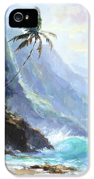 Palm Tree iPhone 5 Case - Ke'e Beach by Jenifer Prince