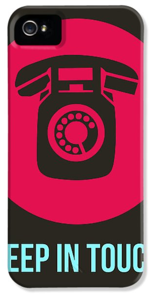 Keep In Touch 1 IPhone 5 / 5s Case by Naxart Studio