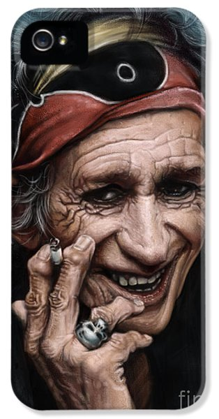 Keith Richards IPhone 5 / 5s Case by Andre Koekemoer