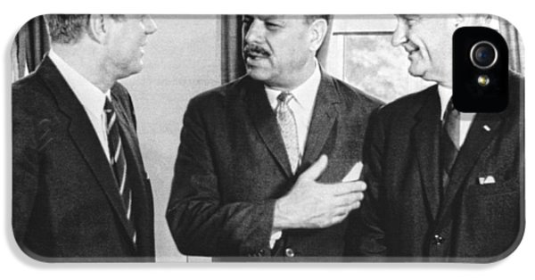 Kennedy, Johnson And Khan Talk IPhone 5 Case by Underwood Archives