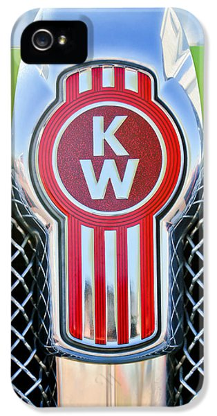 Truck iPhone 5 Case - Kenworth Truck Emblem -1196c by Jill Reger