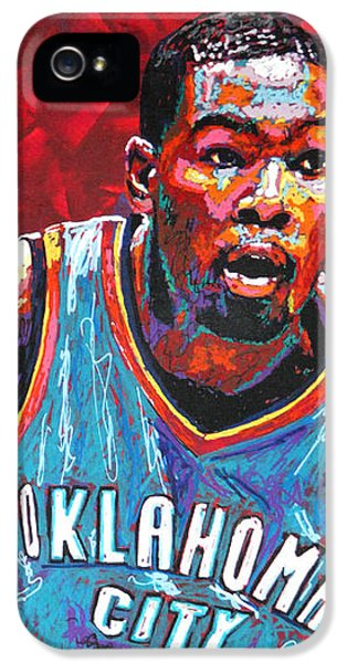 Kevin Durant 2 IPhone 5 Case by Maria Arango