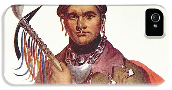 Ki-on-twog-ky Or Complanter, A Seneca Chief, 1796, Illustration From The Indian Tribes Of North IPhone 5 Case by F. Bartoli