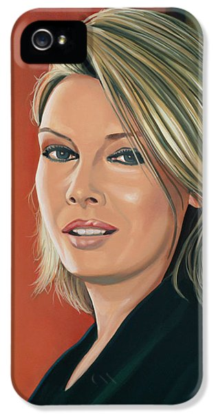 Kim Wilde Painting IPhone 5 Case by Paul Meijering