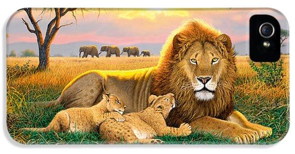 Kings Of The Serengeti IPhone 5 Case by Chris Heitt